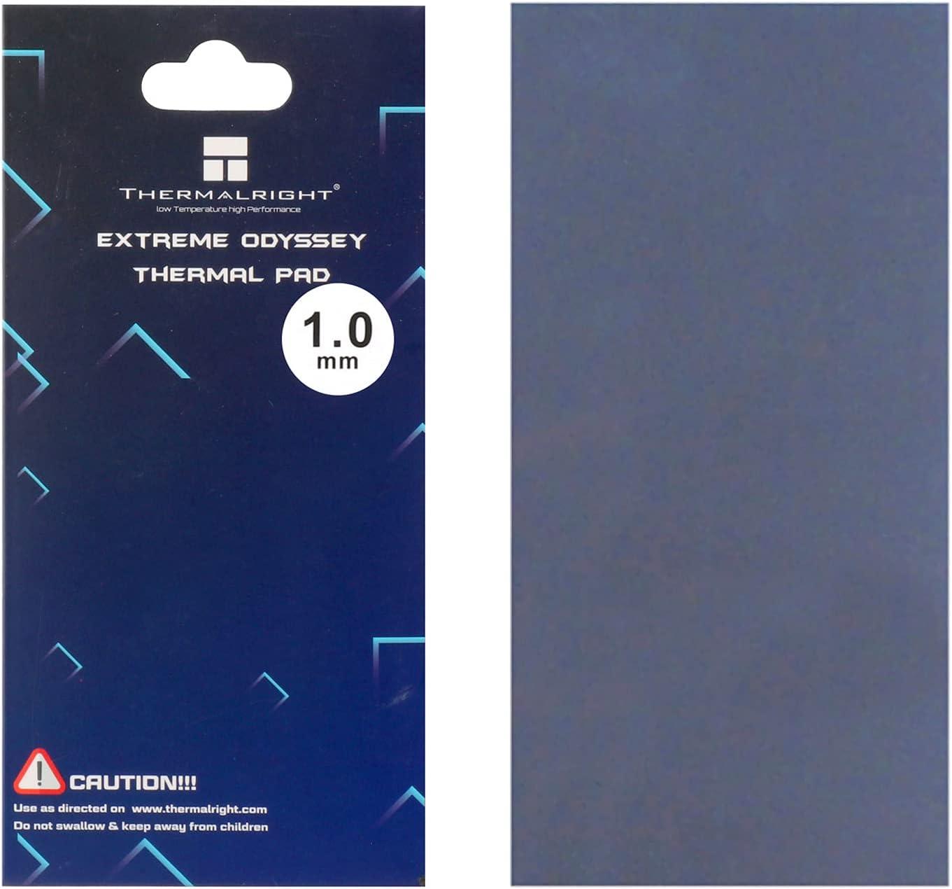 WENDU Thermalright Thermal Pad 12.8 W/mK, 85x45x1.0mm, Non Conductive Heat Resistance High Temperature Resistance, Silicone Thermal Pads for Laptop Heatsink/GPU/CPU/LED Cooler(1.0mm)