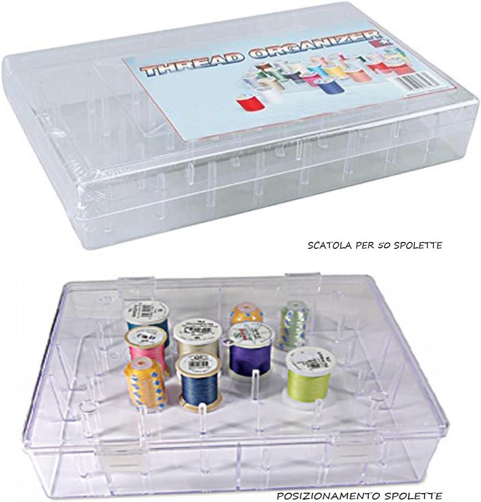 caja contenedora para hilo de coser para 50 espoletas de alambres ...