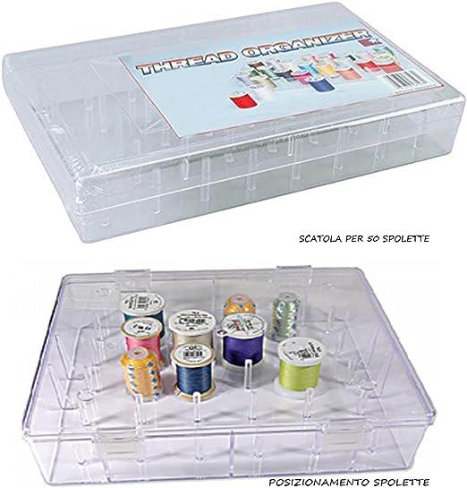 caja contenedora para hilo de coser para 50 espoletas de alambres: Amazon.es: Hogar