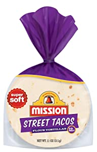 Mission Street Taco Flour Tortillas | Trans Fat Free | Mini Soft Taco Size | 12 Count