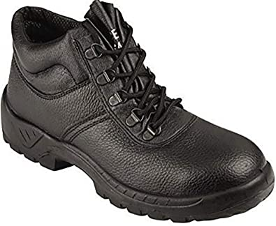 Chukka Boot New Mens Work Safety Chukka Boots Leather Steel Toe Cap   Steel  Midsole Footwear Work Padded Ankle Dual Density Sole Black  Amazon.co.uk   Shoes ... d6d59dd21