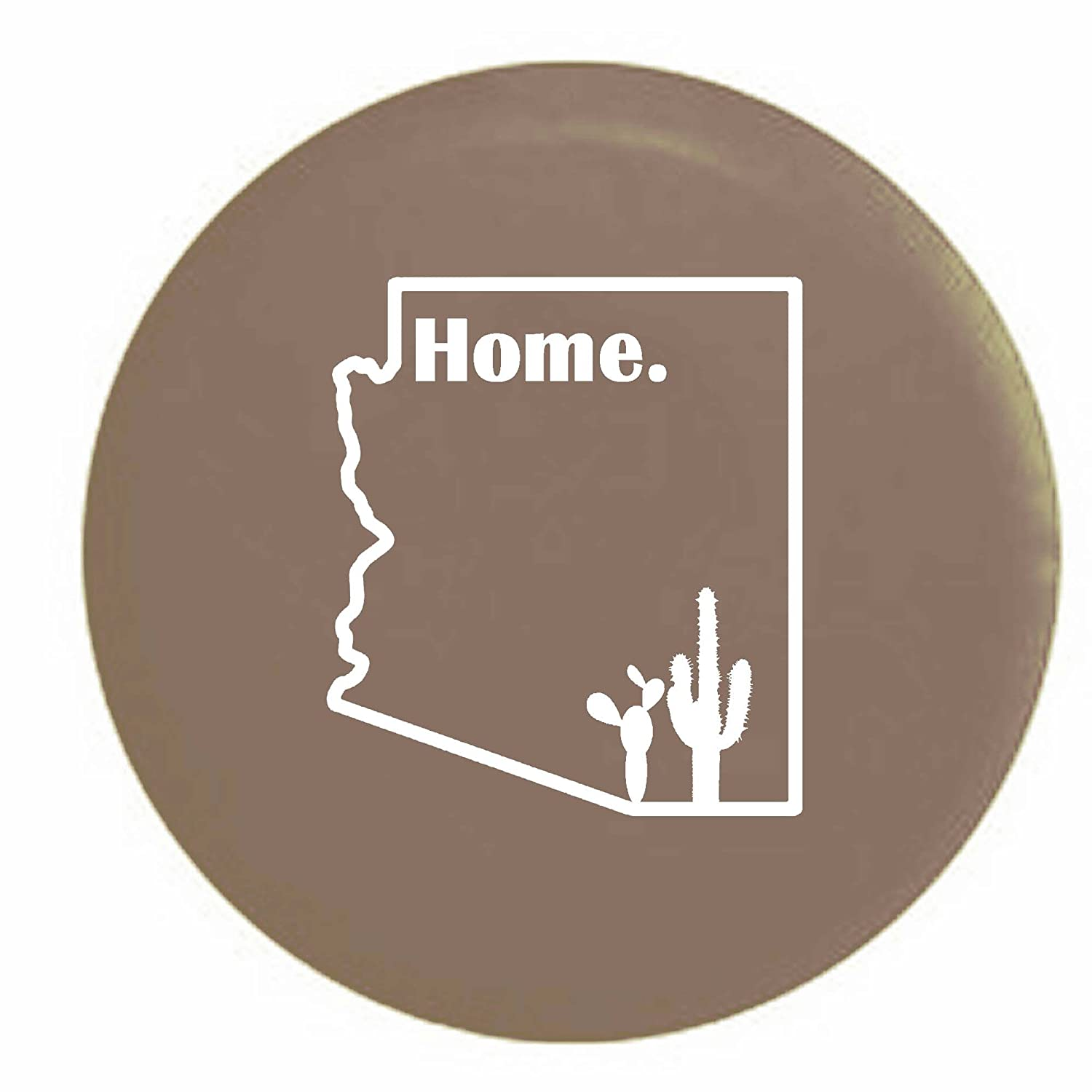 Pike Stealth - Arizona Desert Cactus Home State Edition RV Spare Tire Cover OEM Vinyl Black 27.5 in Pike Outdoors