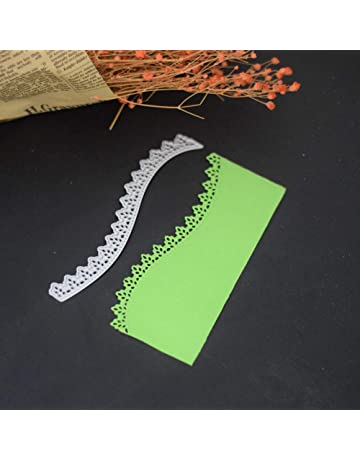 Shangwelluk Decorativas Bordes Troqueles Scrapbooking, Acero al Carbono en Relieve Troqueles de Corte Plantillas Molde