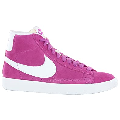 official photos 90804 f281d Nike Blazer Mid Pink Suede Leather Womens Trainers Size 6 UK Amazon.co.uk  Shoes  Bags