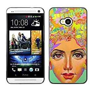 Slim Design Hard PC/Aluminum Shell Case Cover for HTC One M7 thinking a lot / JUSTGO PHONE PROTECTOR