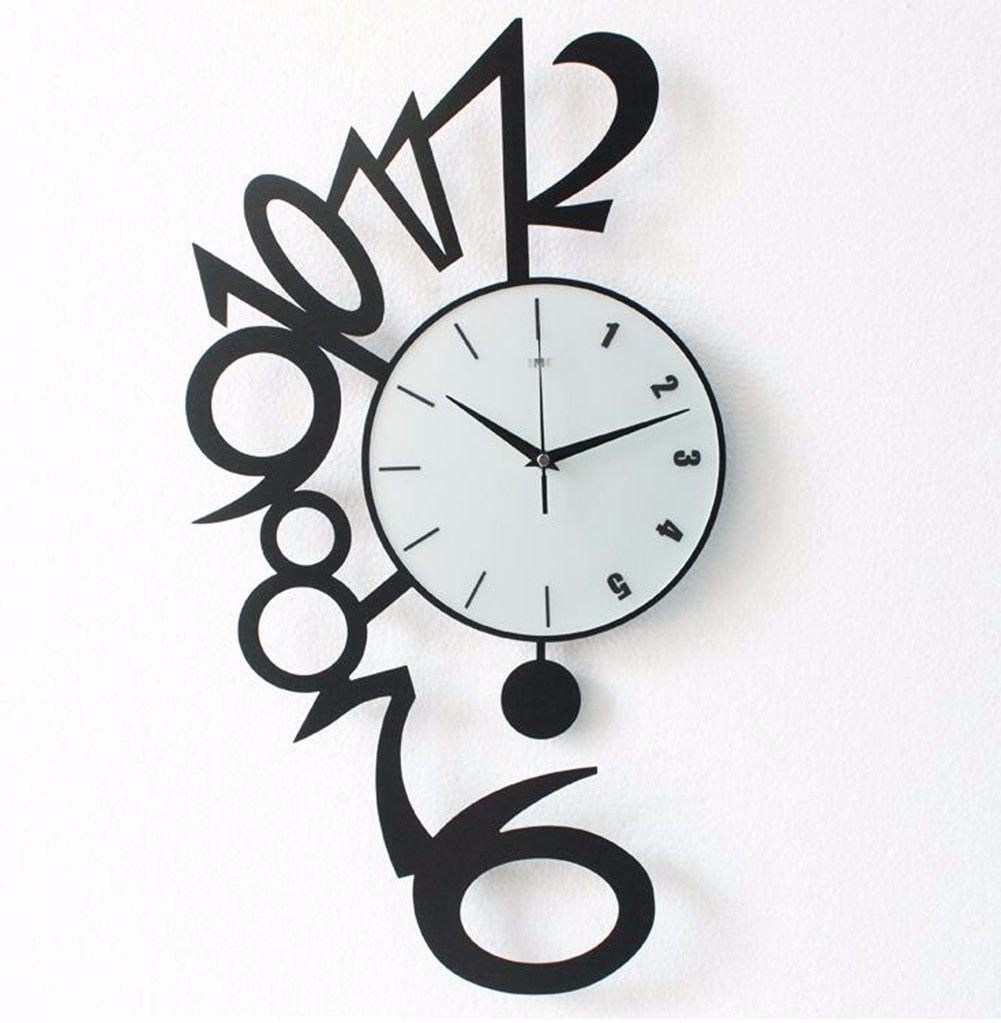 Wall Clocks Wanduhr Uhren Wecker Uhr Haushalt Pendeluhr Modern minimalistisch kreativ dekorativ still Wohnzimmer Uhren personalisierte Wandkarten stilvolle Schlafzimmer Wanduhr Quarzuhr