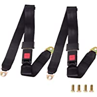 Safety Strap In Grey Adjustable 2 Point Lap Seat Belt for Mitsubishi Canter
