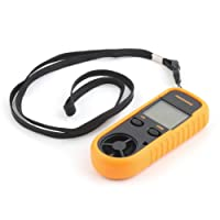 RGBS Anemometer Digital LCD Wind Speed Meter Gauge Air Flow Velocity Measurement Thermometer with Backlight for RC Drones Helicopter Windsurfing Kite Flying Sailing Surfing Fishing etc.