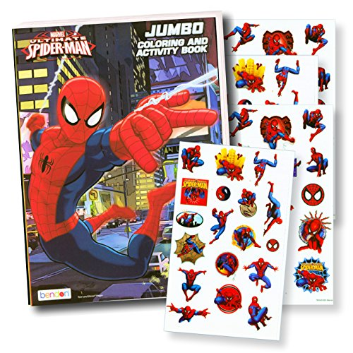 Bendon Intl Disney Favorite Characters Coloring Books for Kids with Stickers (Spiderman)]()