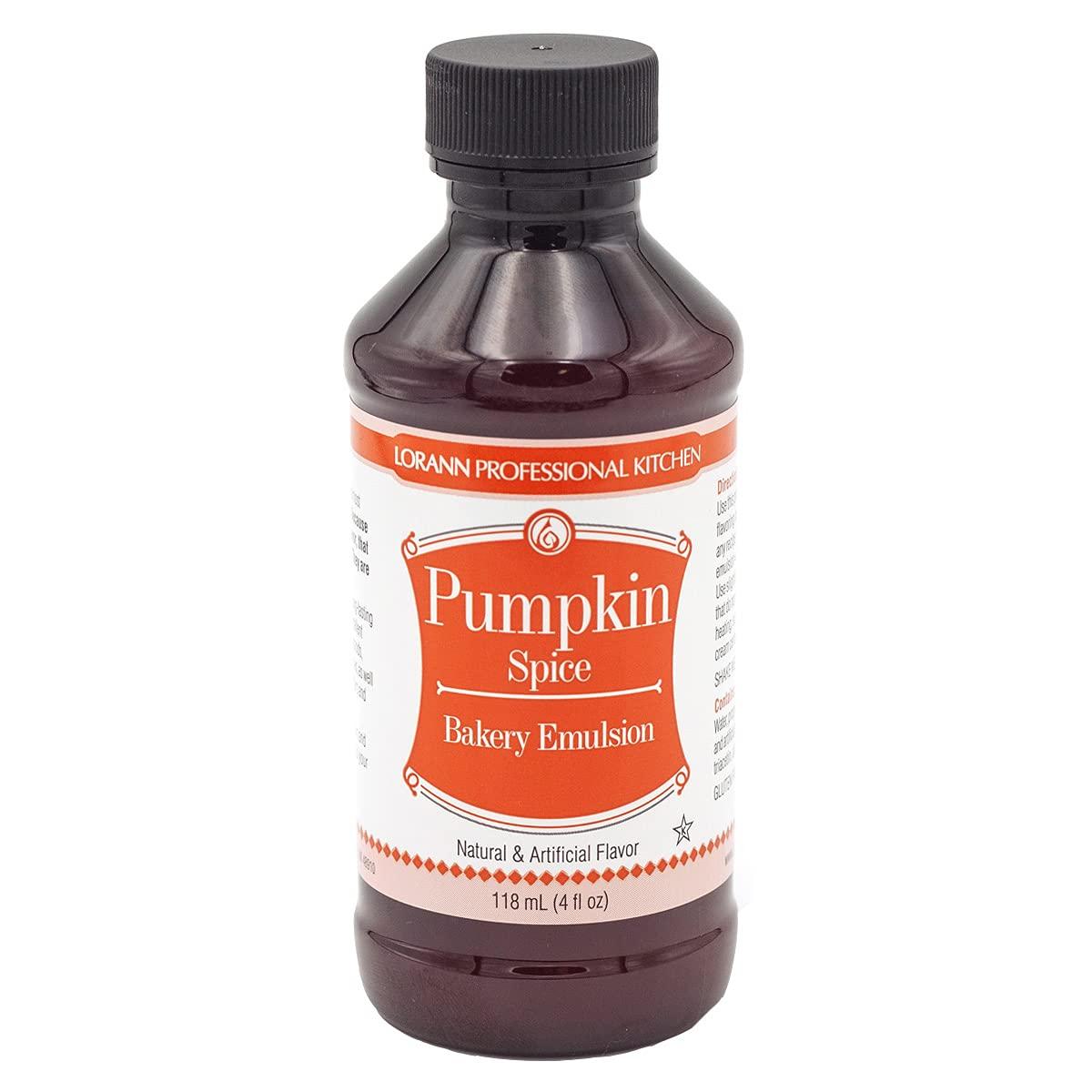 LorAnn Pumpkin Spice Bakery Emulsion, 4 ounce bottle