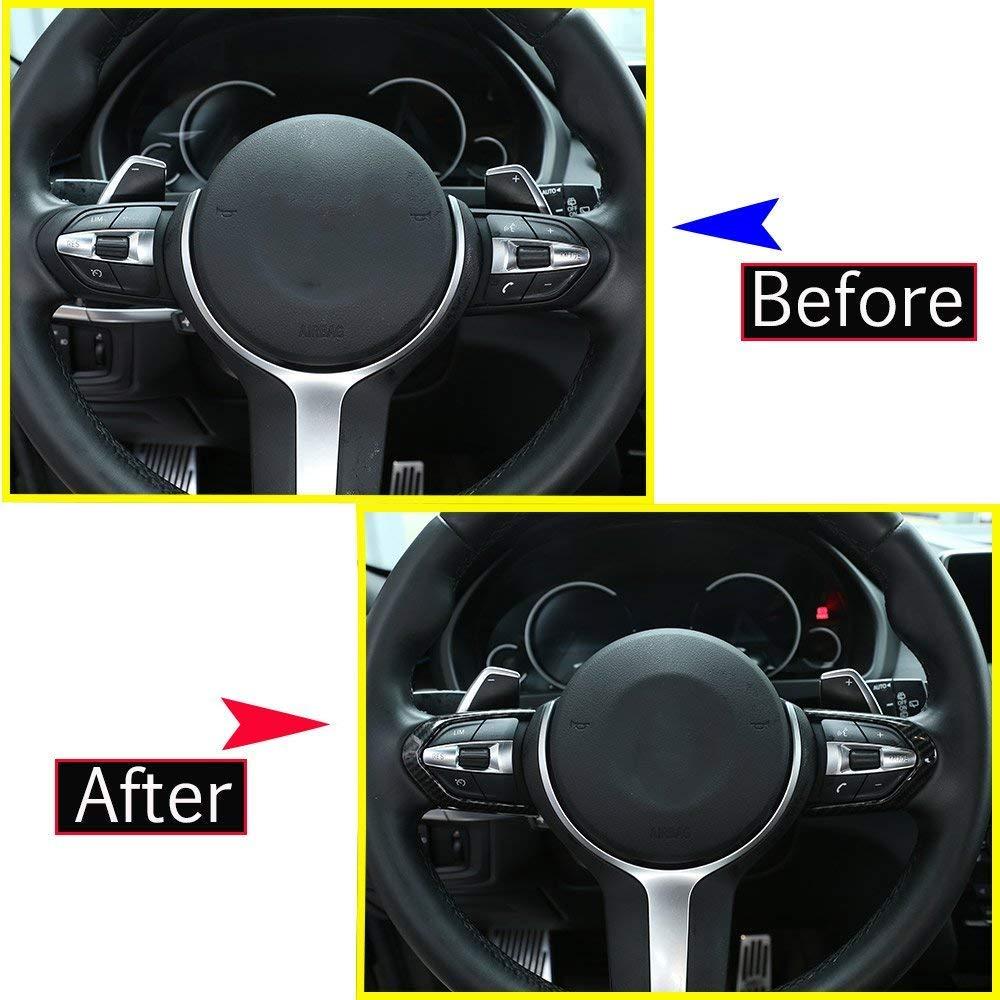 ABS-Kunststoff-Chrom-Lenkrad Button Frame Trim f/ür M3 M4 M5 1 3 Serie F20 F30 X5M F15 Matt Silber EINWEG
