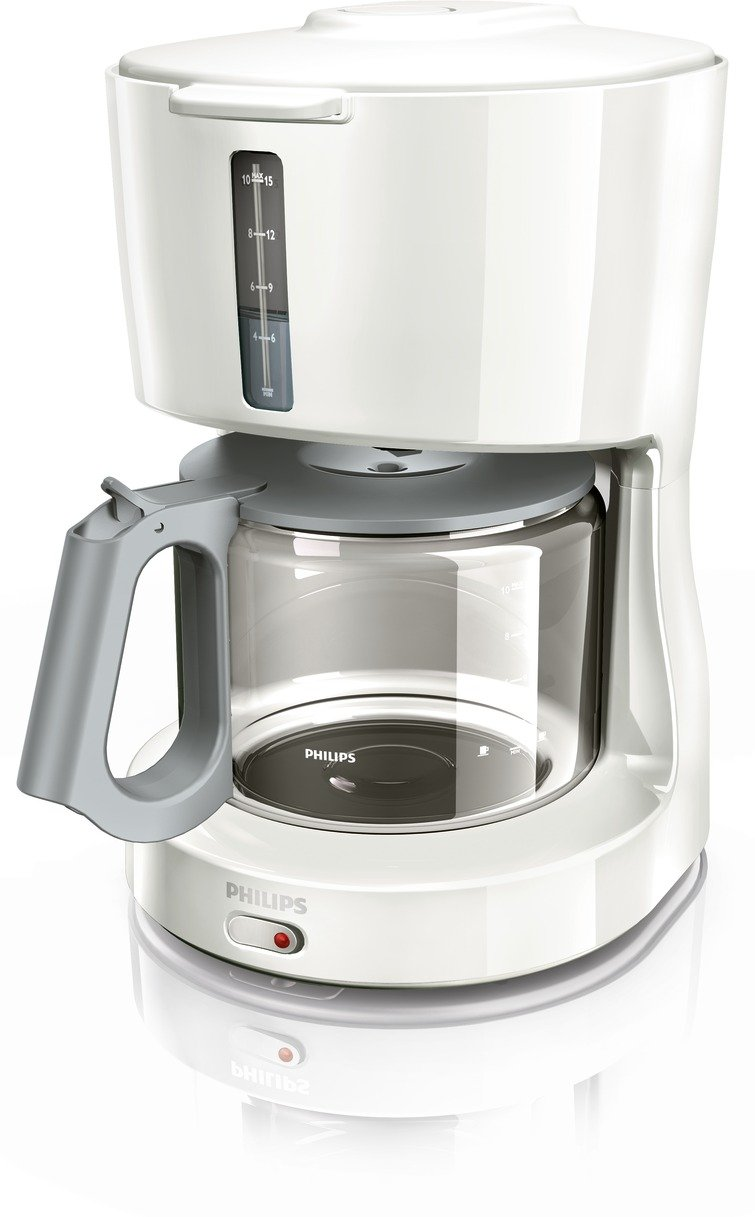 Philips HD7451/00 Blanca de cristal Cafetera, Gris, Blanco, 1000 W ...