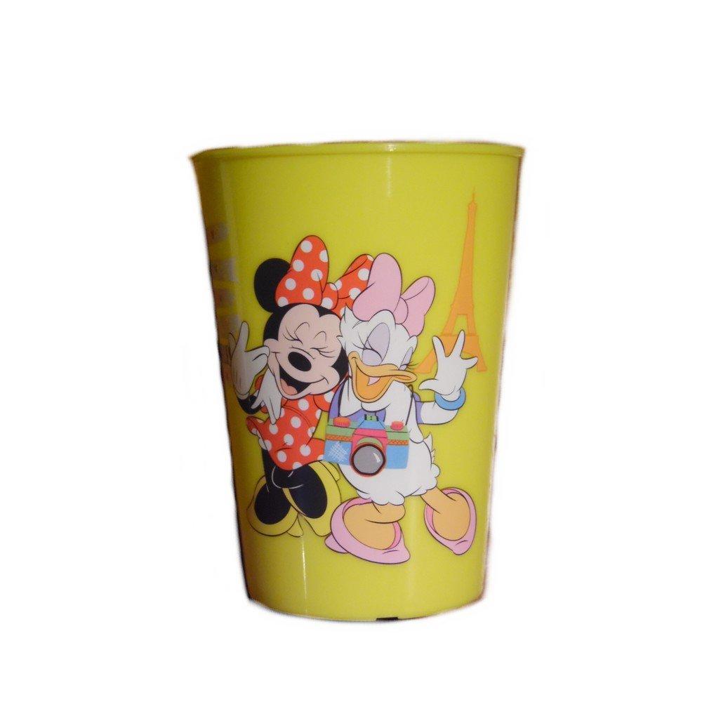 GUIZMAX Gobelet Minnie Disney Verre Plastique Enfant Jaune
