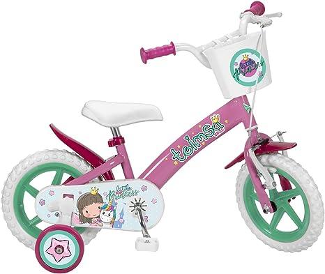 Toimsa - Bicicleta de 12 pulgadas, modelo Little Princess 3-5 años ...