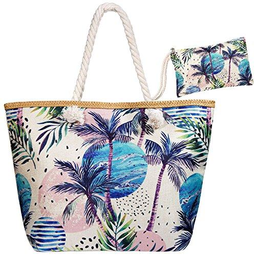 Meersee Large Beach Bag Zipper Woman Shopper Totes Handbag Travel Bag, Coco Coco