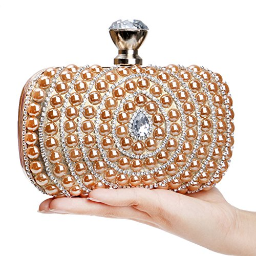 Women Champagne Evening Dinner For Clutches Bags Party Bag Gold And Wedding Glitter SYqHwFR