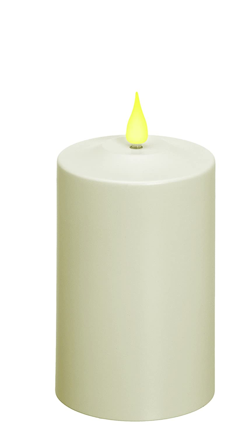 Xodus Innovations FPC1485 Weatherproof Flameless Indoor/Outdoor 5-Inch Battery Powered Pillar Candle with Flicker and Constant on Modes Carlon, Thomas and Betts