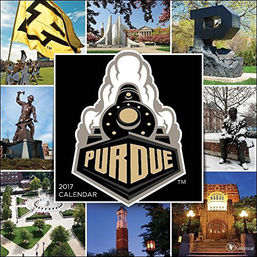 TF Publishing 17-1128 Wall Calendar 2017, Purdue University