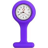 TRIXES - Reloj de bolsillo de silicona con broche para enfermera