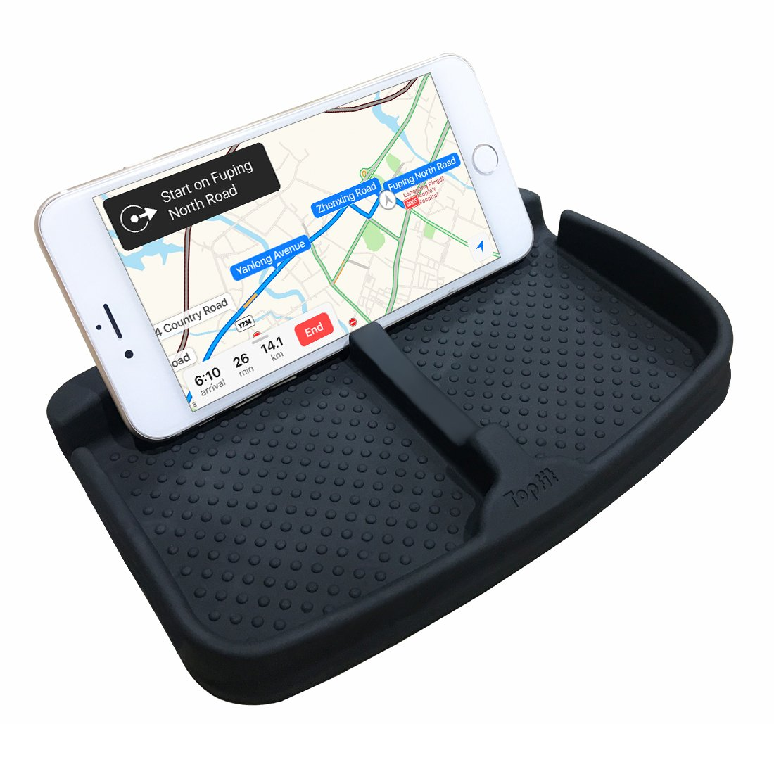 Anti-Slip Cell Phone Pad Universal for Car Dashboard Non-Slide Silicone Rubber Gel Mat Cell Phone Holder for Smartphone X/8/7 Plus Galaxy Note 8 S9 S8 Plus or GPS Devices Sunglasses Cards Coins by BMZX