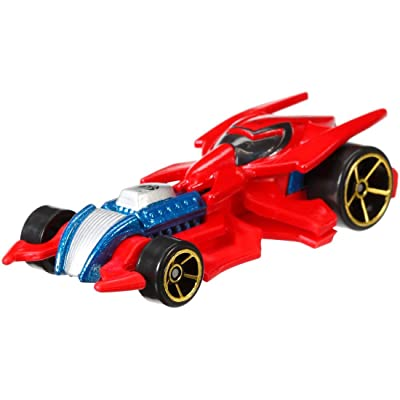 Hot Wheels Marvel Character Car Spider-Man Die-Cast Vehicle: Toys & Games