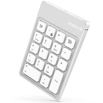 Inateck Teclado numérico Bluetooth inalámbrico Recargable, Teclado Wireless Ultra sútil Portable 18 Teclas para Windows