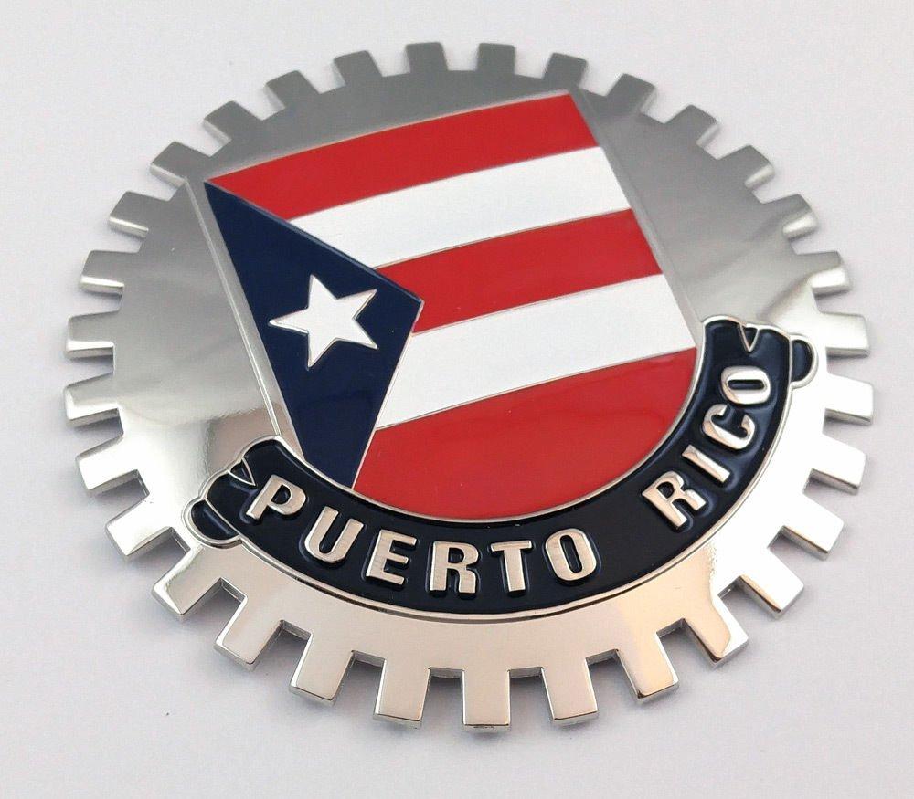 Aplique Parrilla Puerto Rico Bandera de Puerto Rico