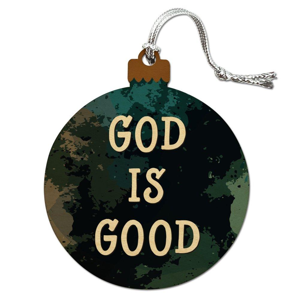 Amazon.com: God is Good Christian Inspirational Religious Wood ...