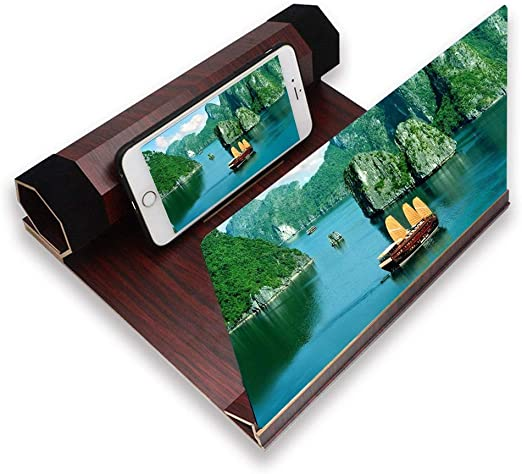 HHGO Amplificador de Lupa de Pantalla de Smartphone 3D Universal ...