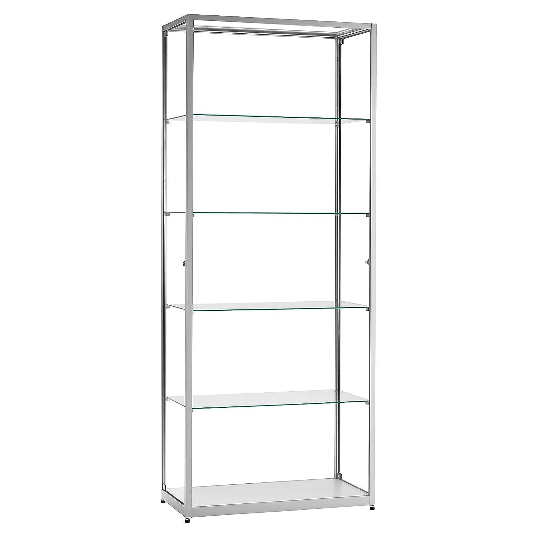 vitrine glasvitrine standvitrine sammlervitrine eco 800 alu glas abschlie bar kaufen. Black Bedroom Furniture Sets. Home Design Ideas
