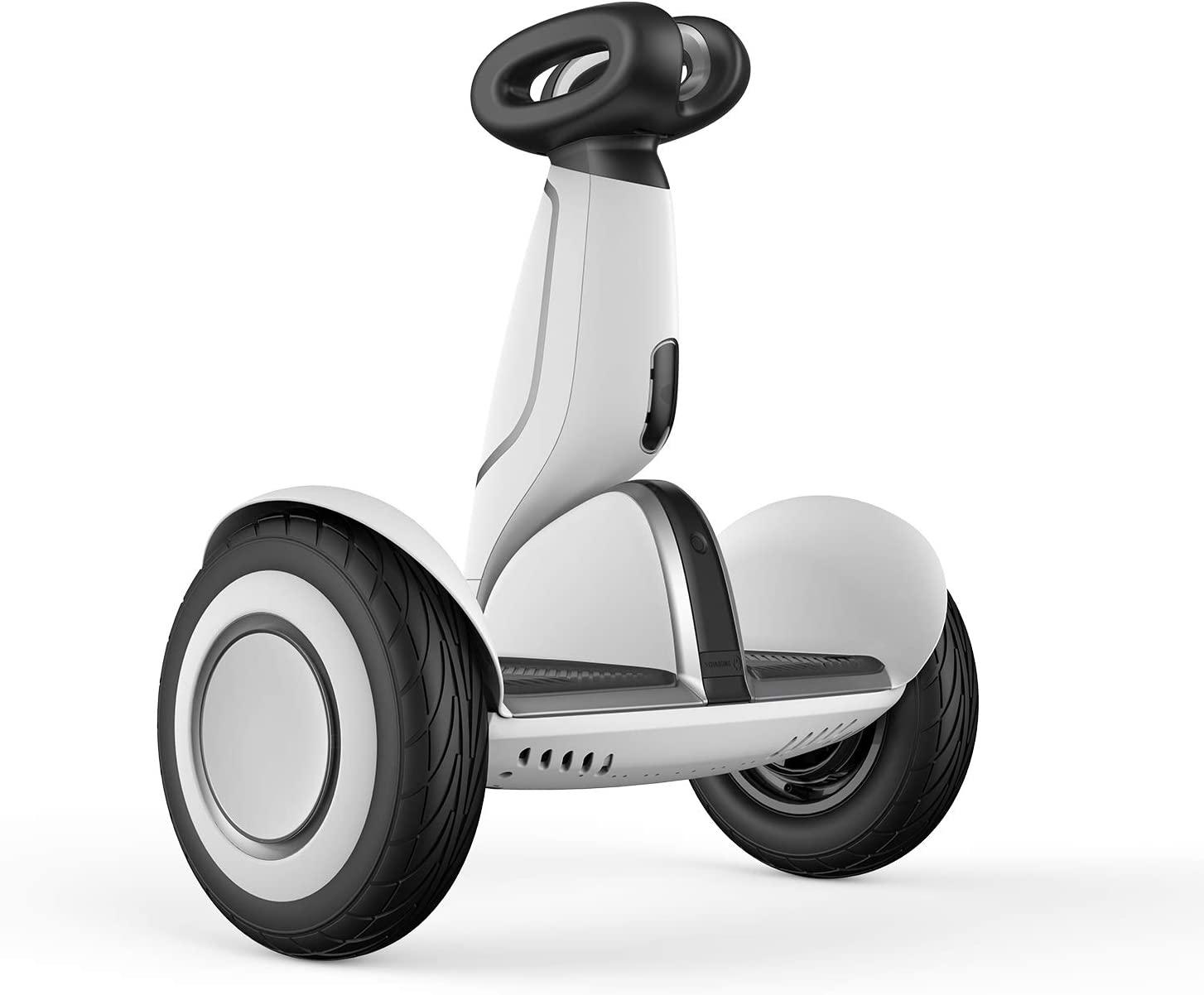 Segway Ninebot S-Plus Smart Self-Balancing Electric Scooter with Intelligent Lighting and Battery System, Remote Control and Auto-Following Mode, White