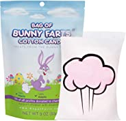 Easter Bunny Cotton Candy Funny Easter Basket Stuffer for All Ages Unique Birthday for Friends, Mom, Dad, Girl, Boy Gag Gift