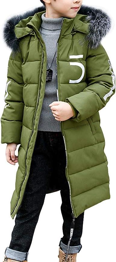 Phorecys Kids Boys Padded Back to School Parka Jacket Overcoats Age of 3-12
