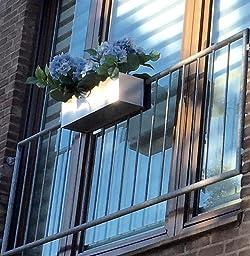 blumenkasten balkonkasten binox aus v2a edelstahl 60 cm geb rstet garten. Black Bedroom Furniture Sets. Home Design Ideas
