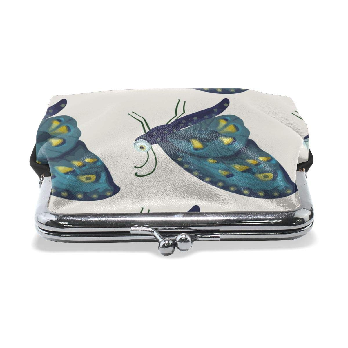 Yunshm Seamless Pattern Vith Cute 3d Insect Personalized Leather Classic Floral Coin Purse Clutch Pouch Wallet For Womens