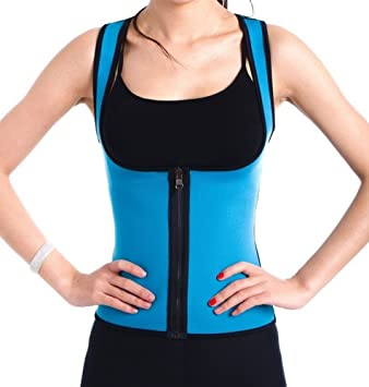 ab9591a70e Amazon.com  Roseate Body Shaper Hot Thermo Sweat Shapewear Womens Weight  Loss Tank Top Neoprene Sauna Waist Cincher M  Clothing
