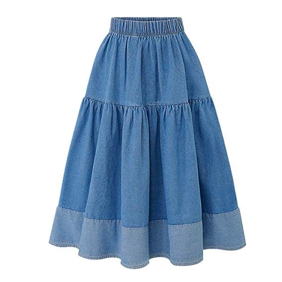 Conquro-falda A-Line con Costuras elásticas en la Cintura en la ...