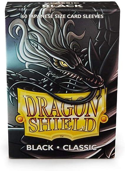 60 Sleeves ARCANE TINMEN Dragon Shield Japanese Card Sleeves Matte Black