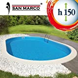 Piscina ovale da giardino 1030X500x150 cm full optional