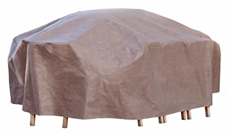 Duck Covers Elite Rectangle / Oval Patio Table U0026 Chair Set Cover With  Inflatable Airbag To
