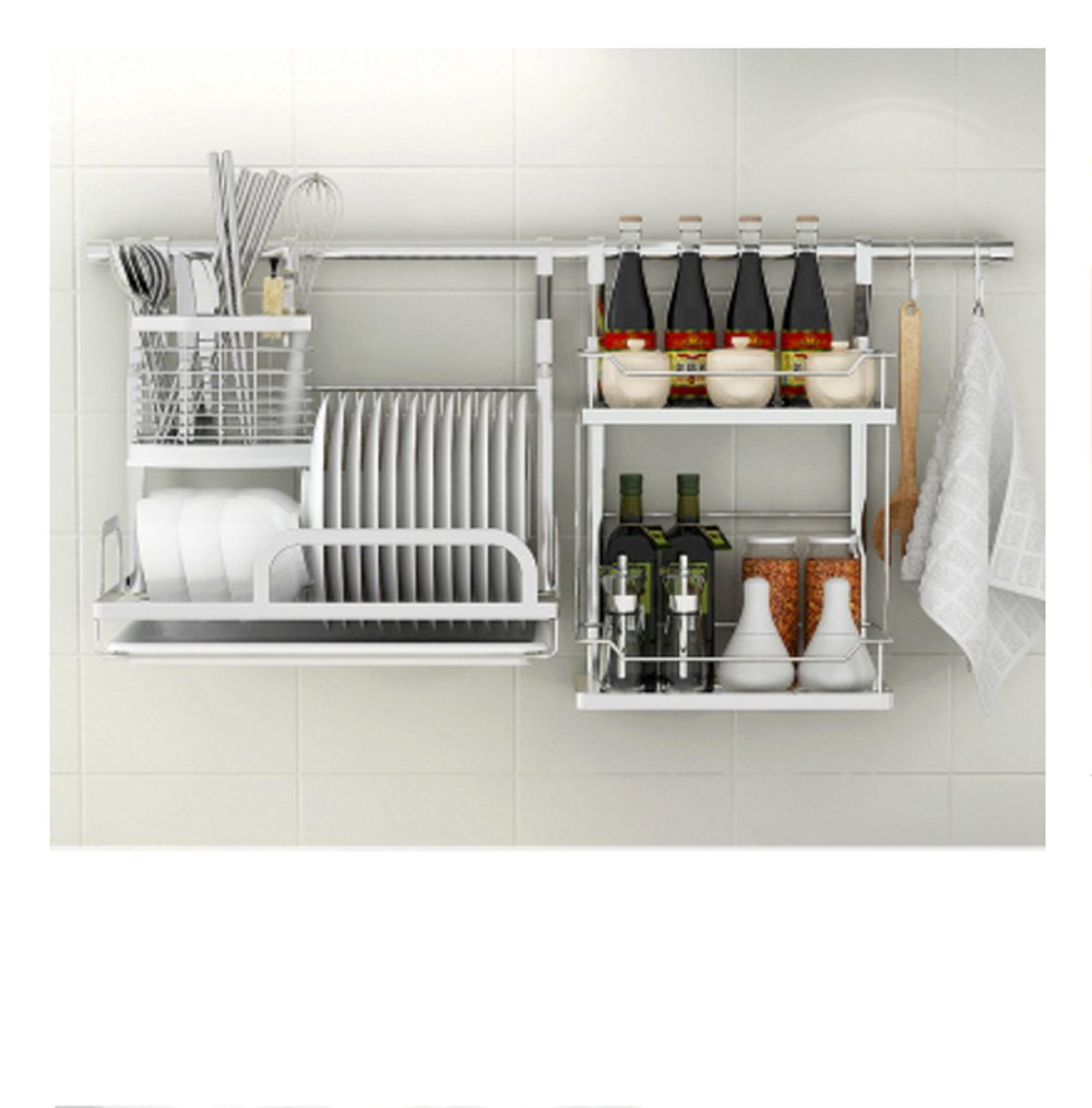 Hyun times Kitchen Pendant 304 Stainless Steel Rods Kitchen Utensils Dish Racks Seasoning Rack Rack Racks Lishui Kitchen Racks Racks by Hyun times Bowl shelf