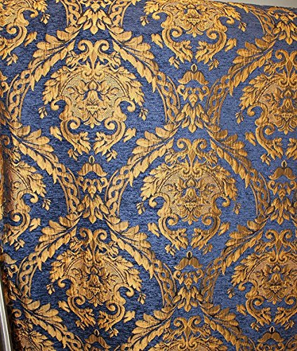 Damask Tapestry Chenille Fabric - Upholstery Fabric, 60
