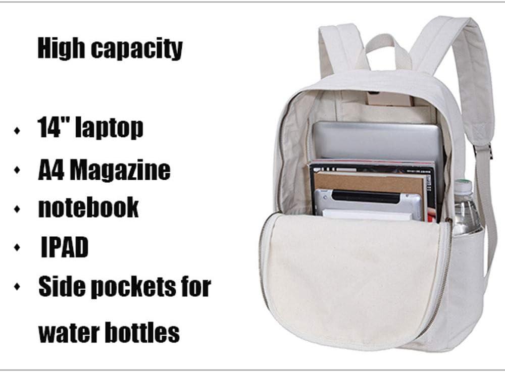 JMM Backpack Female Korean Version of The Tide Retro Vintage Art Cotton Canvas Backpack Student Bag