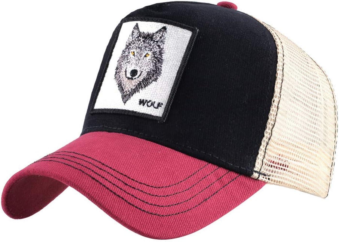 SLLY bordó la Gorra de béisbol del Lobo Sombrero Retro de la ...