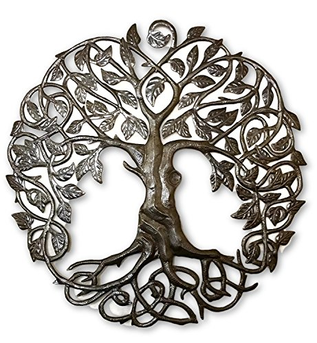 it's cactus - metal art haiti Family Roots Tree of Life, Large Outdoor Wall Art, Recycled Metal Haiti, 33