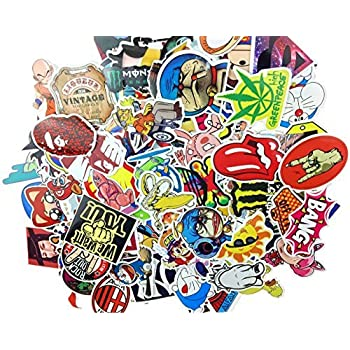 Pack of 100 stickers skateboard vintage vinyl sticker laptop luggage car phone pad decals