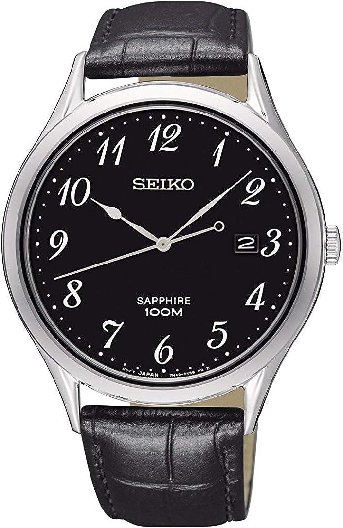 Seiko Reloj Analógico para Hombre de Cuarzo con Correa en Acero Inoxidable SGEH77P1