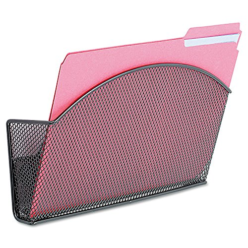 (Safco 4176BL Onyx Magnetic Mesh Panel Accessories Single File Pocket Black)