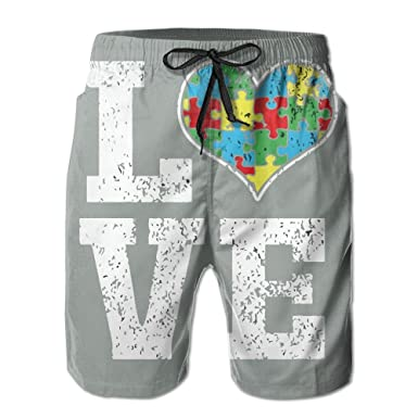 This is What Autism Looks Like Mens Summer Casual Board Shorts Quick Dry Swim Trunks with Pockets