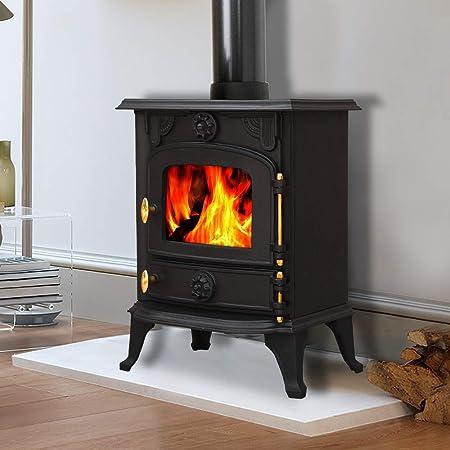 lincsfire saxilby ja013 6 5kw multifuel woodburning stove wood rh amazon co uk Traditional Wood-Burning Fireplaces pictures of freestanding wood burning fireplaces